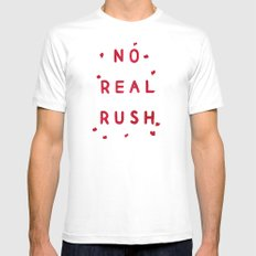 No Real Rush Mens Fitted Tee White SMALL