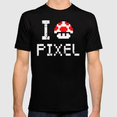 Pixel Mens Fitted Tee Black SMALL