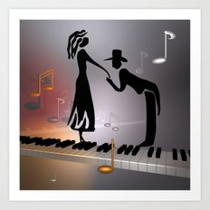 when the music ... Art Print