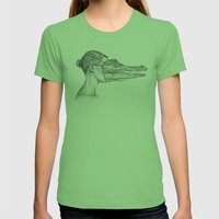 The Alligator Mask Womens Fitted Tee Grass SMALL