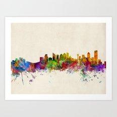 Calgary Skyline Art Print