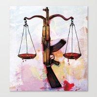 Criminal Justice Canvas Print