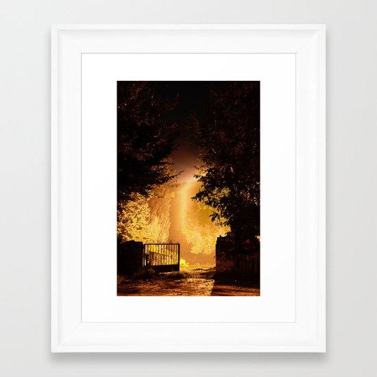 Bodhi tree Framed Art Print