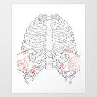 Human ribs cage Art Print