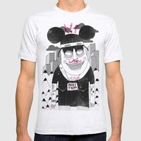Michael Mouse Mens Fitted Tee Ash Grey SMALL