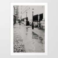 On The Streets Of Cambri… Art Print