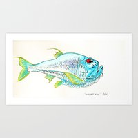 Hatchet Fish Art Print