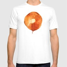 Pancake White Mens Fitted Tee SMALL
