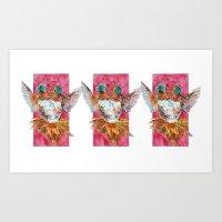 The Ultimate Pollinator, Triptych Art Print
