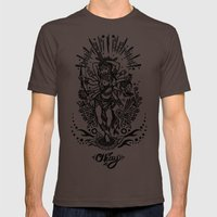 West Kali - Dark Mens Fitted Tee Brown SMALL