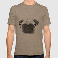 Pugster Mens Fitted Tee Tri-Coffee SMALL