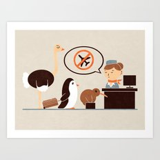 The No-Fly List Art Print