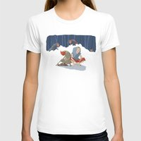 Henon Adventure Womens Fitted Tee White SMALL