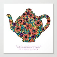 Teapot Warmth Canvas Print