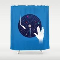 Star Tracks Shower Curtain