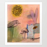 Mushroom Eater Art Print