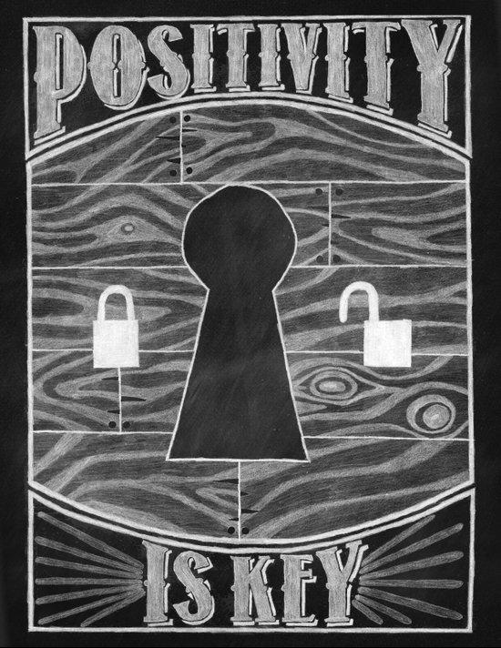 Positivity Is Key Canvas Print