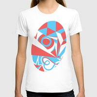 Crystal Landscape Womens Fitted Tee White SMALL