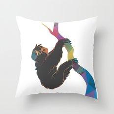 Geometric Sloth Throw Pillow