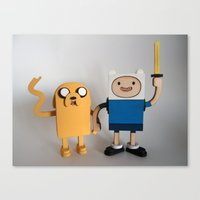 Wooden Toy Finn & Jake Canvas Print