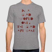 In A Mad World Mens Fitted Tee Athletic Grey SMALL