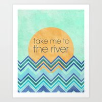 Take Me To The River Art Print