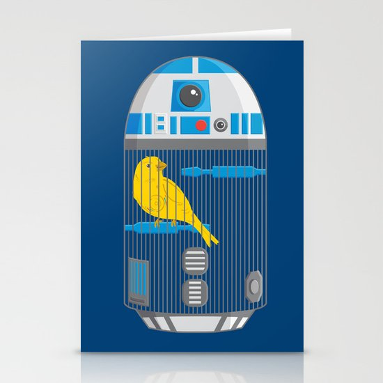 R2 Birdcage Stationery Card
