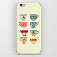 Tea Cups iPhone & iPod Skin
