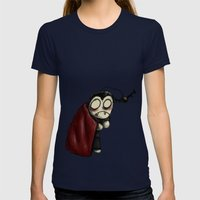 VampBob Womens Fitted Tee Navy SMALL