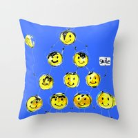 support happiness Throw Pillow