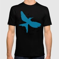 MockingJay Revolution - Blue Mens Fitted Tee Black SMALL