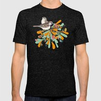 Bird's Nest Mens Fitted Tee Tri-Black SMALL