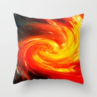 Storm In The Galaxy - Painting Style Throw Pillow