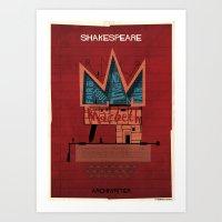 016_ARCHIWRITER_William Shakespeare Art Print