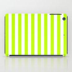 Vertical Stripes (Lime/White) iPad Case