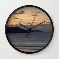 Evening Skies Over Polze… Wall Clock