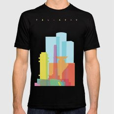 Shapes of Tel Aviv Mens Fitted Tee Black SMALL