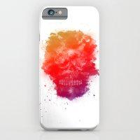 Rainbow Splatter Skull iPhone 6 Slim Case