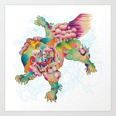 Shiisa - The Lion Art Print