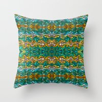 Molten Gold With Impurit… Throw Pillow