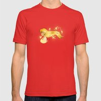 Wind Butterflies Mens Fitted Tee Red SMALL