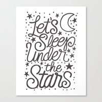 Let's Sleep Under The Stars Canvas Print