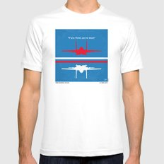 No128 My TOP GUN minimal movie poster Mens Fitted Tee SMALL White