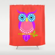 Shower Curtain featuring Owl D by Vitta