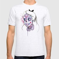 Sugar Skull Alice Mens Fitted Tee Ash Grey SMALL