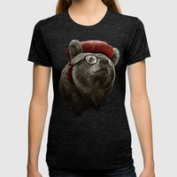 HANDSOME BEAR Womens Fitted Tee Tri-Black SMALL