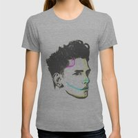 XAVIER DOLAN Womens Fitted Tee Athletic Grey SMALL