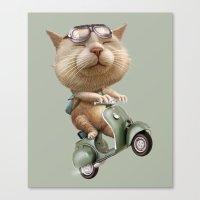 RUNAWAY CAT Canvas Print