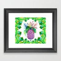 Tropical Pina Art Print Framed Art Print