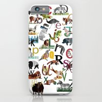 iPhone & iPod Case featuring Animal ABC by Pippa Curnick